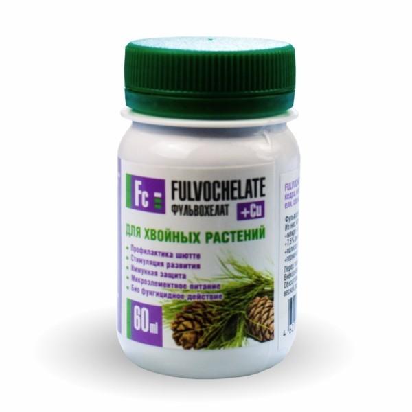 Жидкое удобрение Фульвохелат + Cu для хвойных 60мл