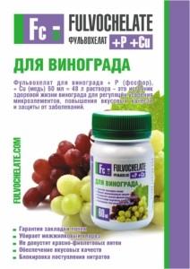 Фульвохелат для винограда - здоровье, польза и высокий урожай любимой ягоды.